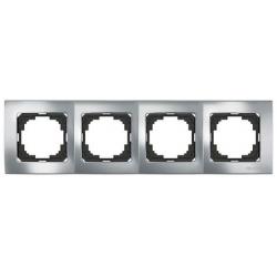 Рамка на четыре поста серебро